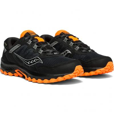 Paar vom Saucony Excursion TR13 GTX Herren in schwarz/orange