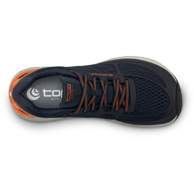 Ansicht von oben vom TOPO athletic Phantom Herren in navy/orange