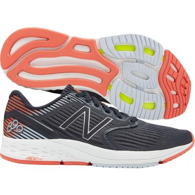 New Balance - 890 V6, Damen - schwarz/orange